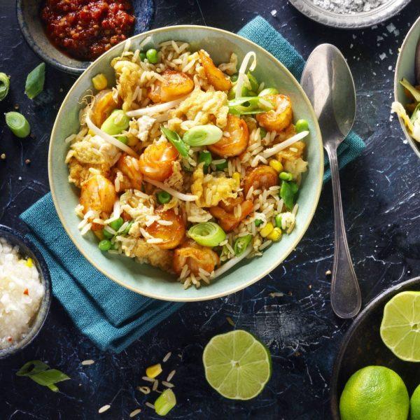 Fried Rice Garnalen
